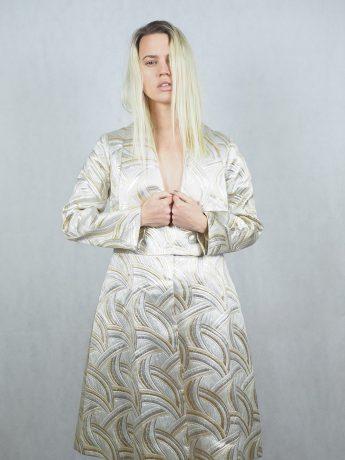 model-silver-dress